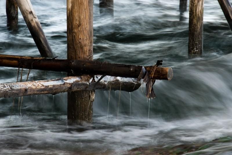 water under a pier