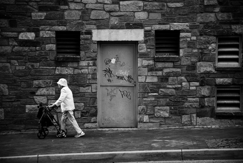old women walking