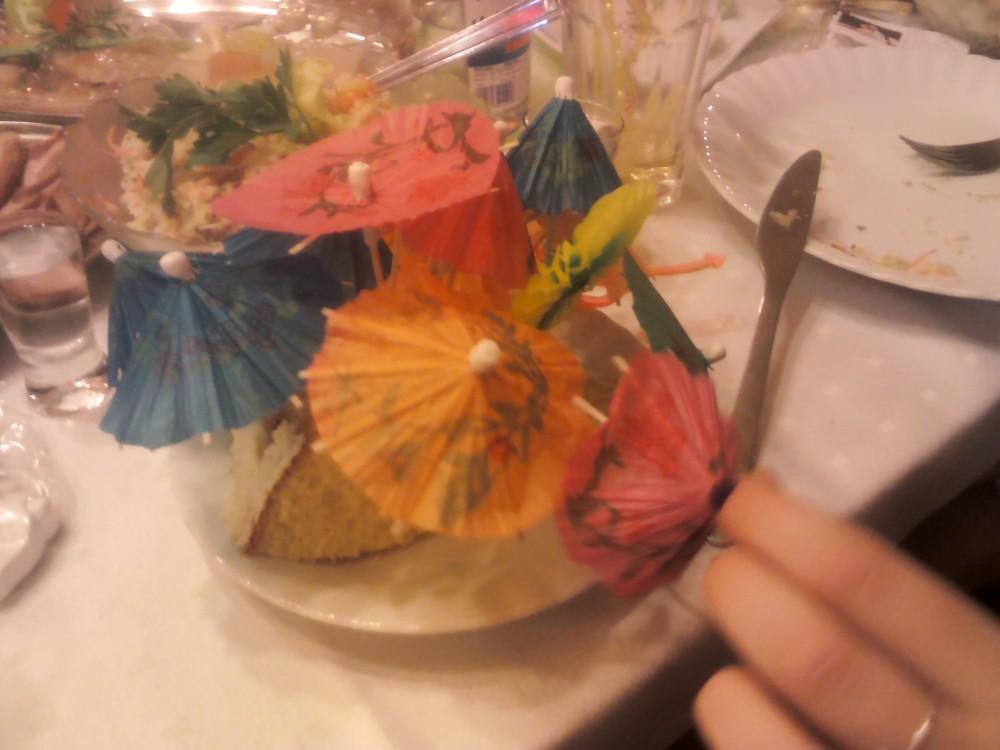 wykałaczki parasolki