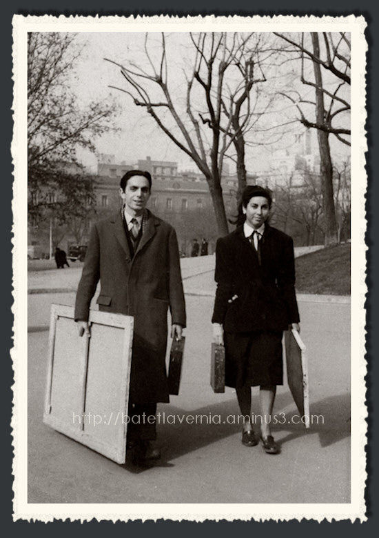 Couple d'artistes - Madrid - hiver 1949