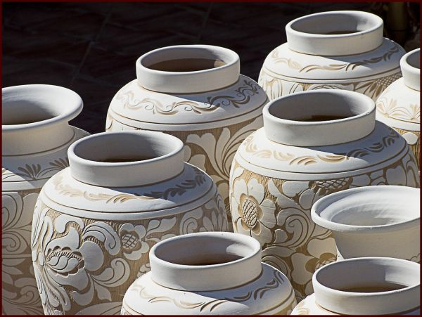 traditions: pottery II white