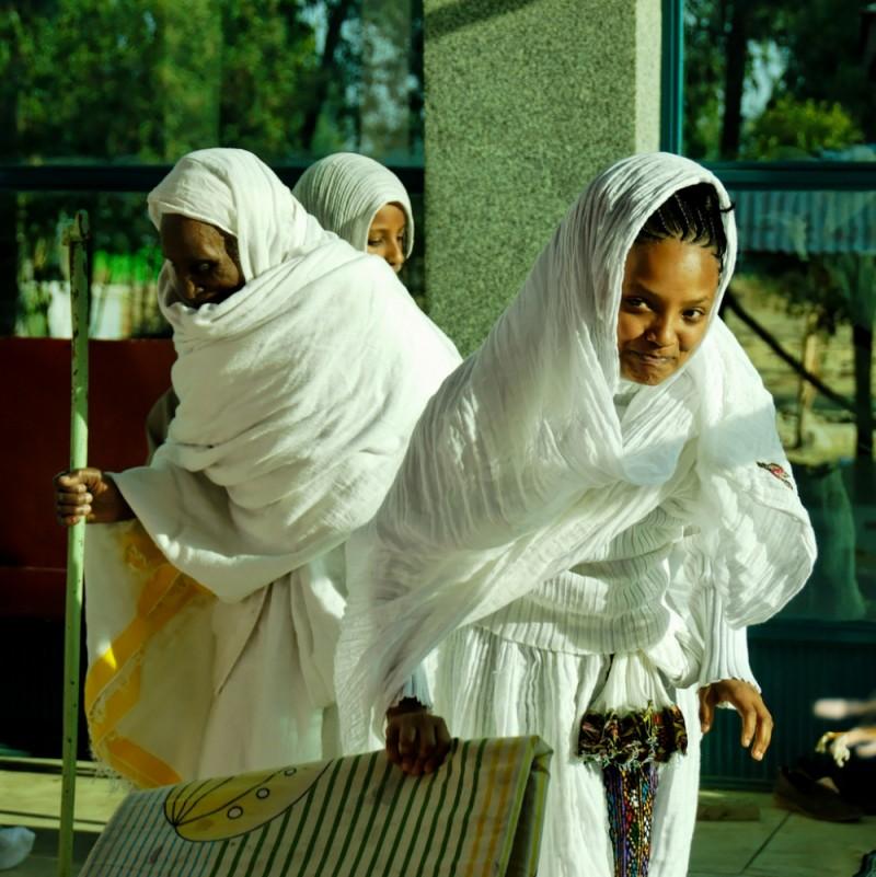 Orthodox christian women, Addis Ababa, Ethiopia