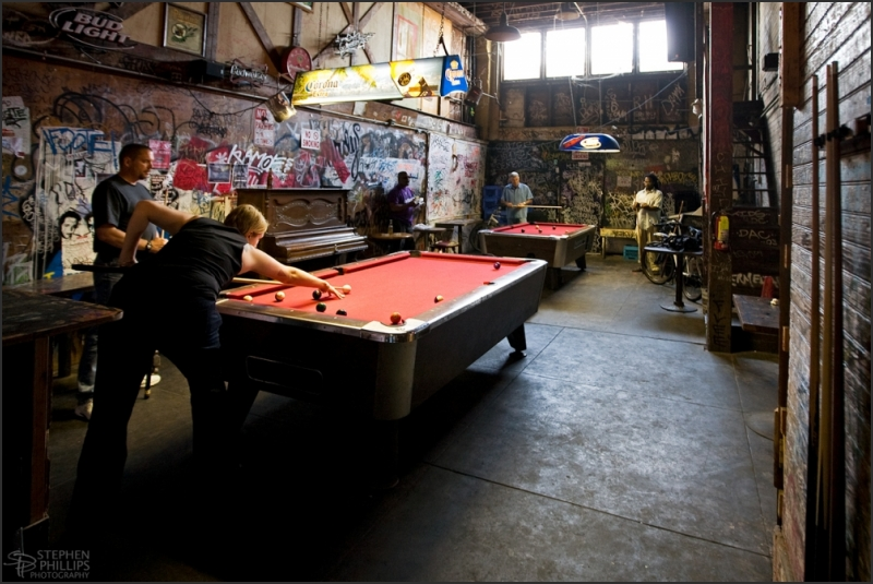 Pool Room of the Merchant Bar in Oakland, Californ