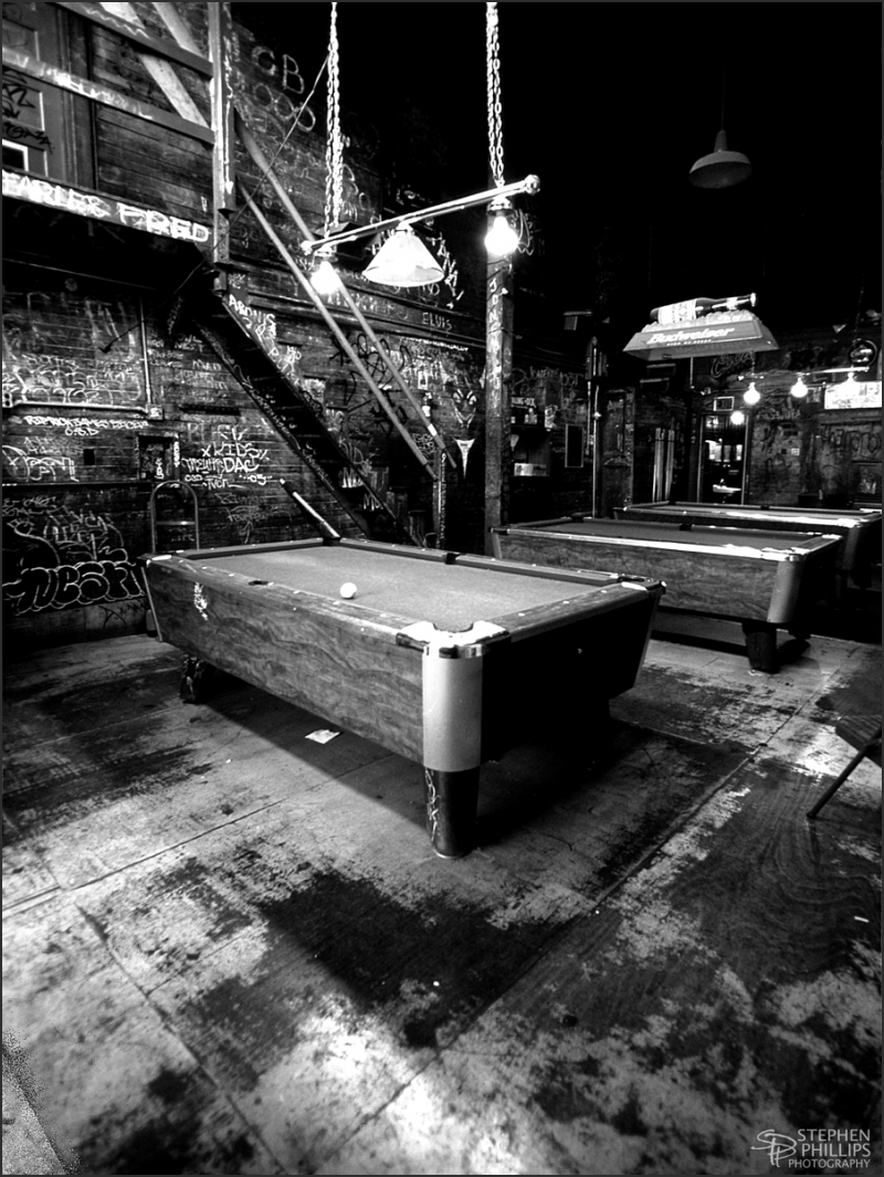 Pool Room of the Merchant Bar/ Oakland, California