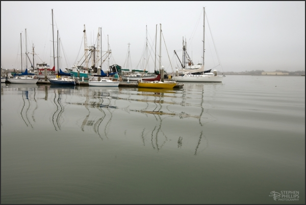 Morning Moorings - vessels in Humboldt Bay