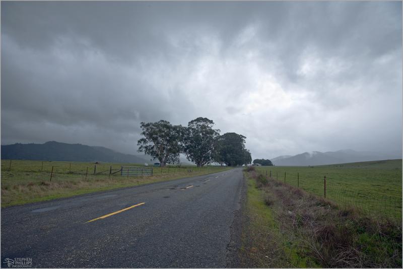 Rain near Petrolia, California Road 211
