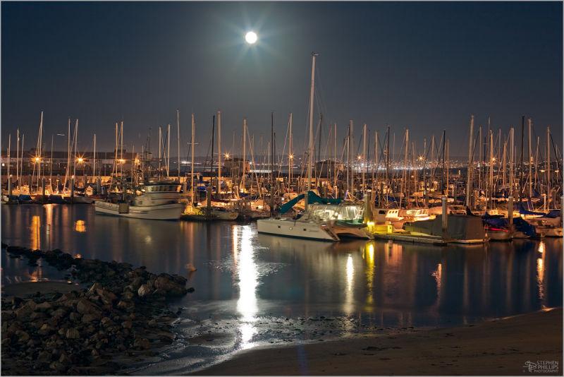 full moon Monterey California full moon