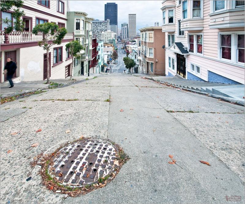 Top of Kearny Street in San Francisco