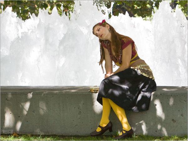Jesse's Tambourine - a rest at Yerba Buena Gardens