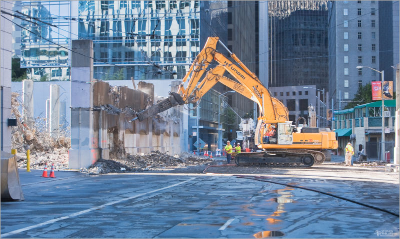 bus ramp demolition in san-francisco