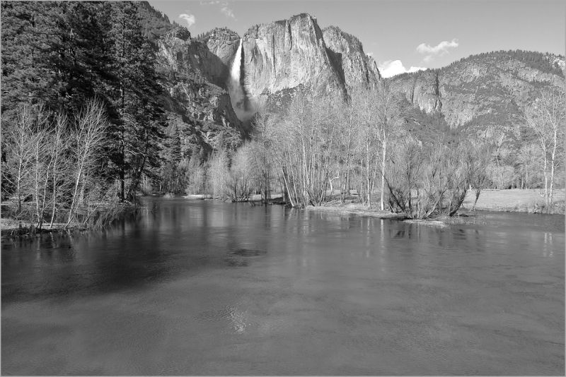 The swollen Merced River in Yosemite Park