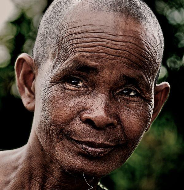 Cambodian poor woman