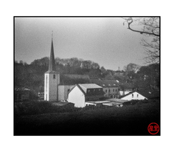 Church of Sprinkange, pinhole