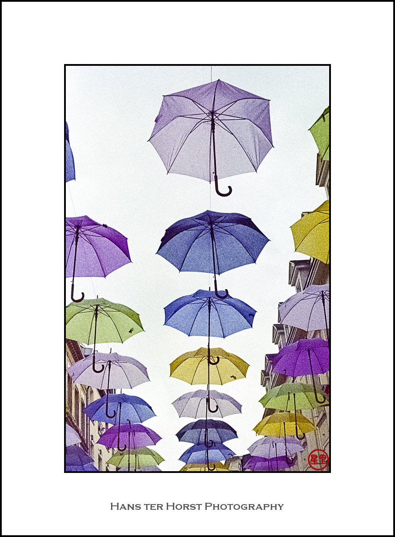 Umbrellas in Luxembourg City