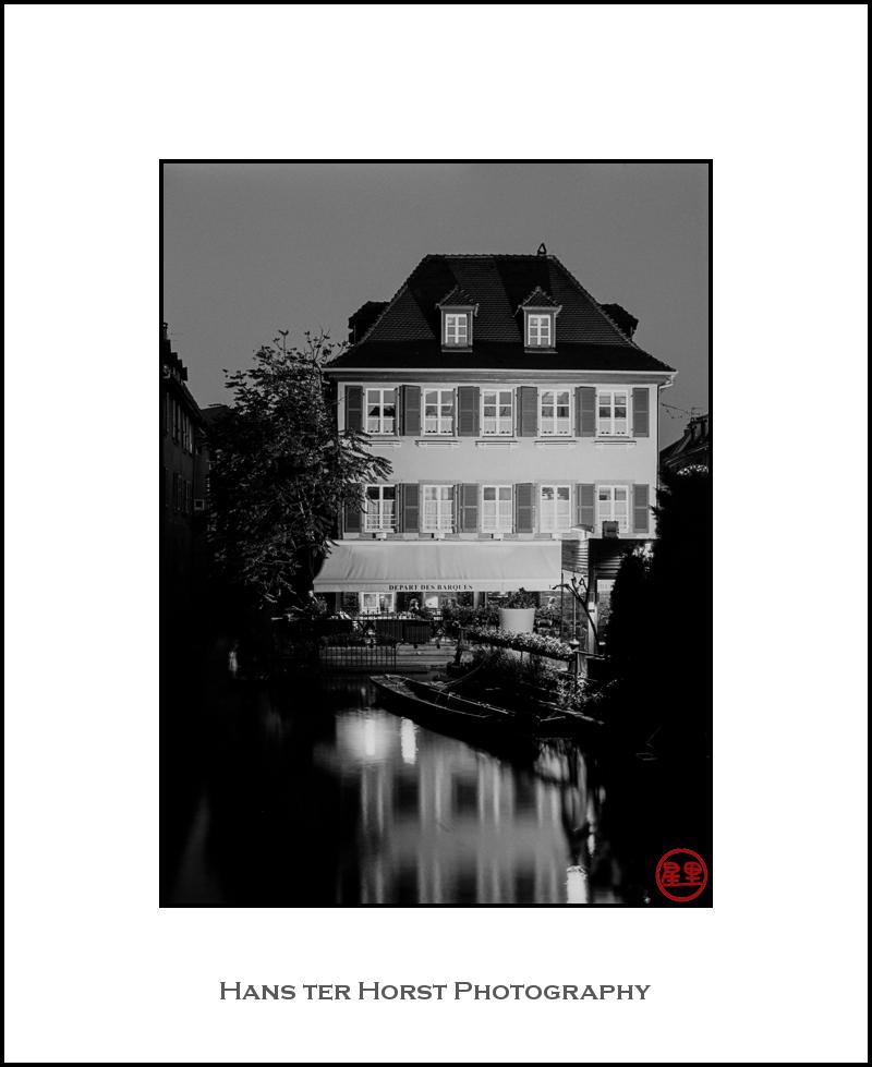 Colmar house at night