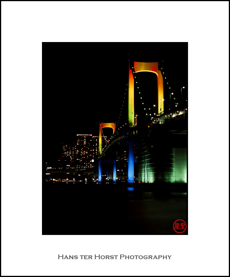 Rainbow Bridge at night, Tokyo