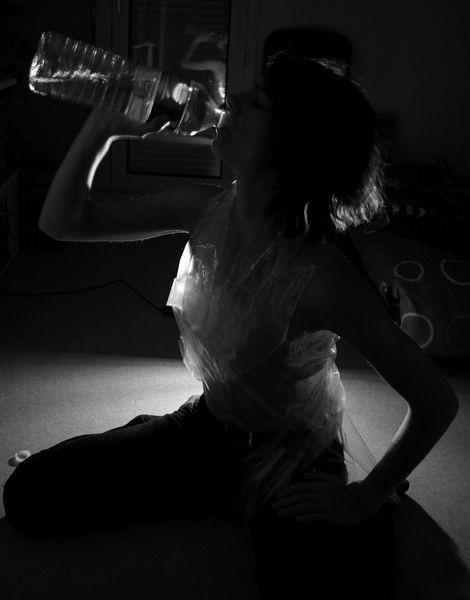 Autoportrait à la bouteille