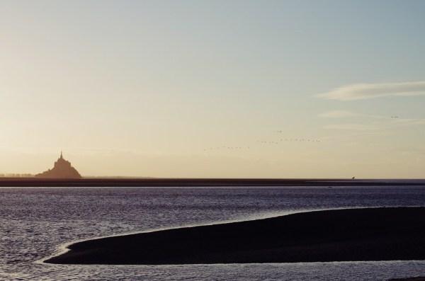mont-saint-michel baie sunset normandie grouin du
