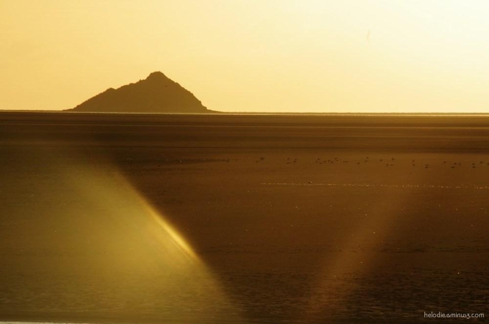 mont-saint-michel normandie sunset roche-torin