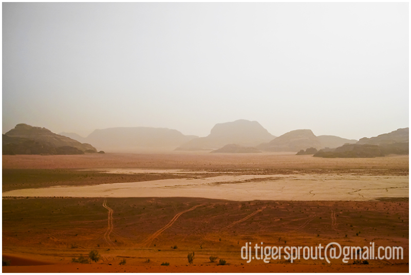 View Across A Dry Lakebed, Wadi Rum