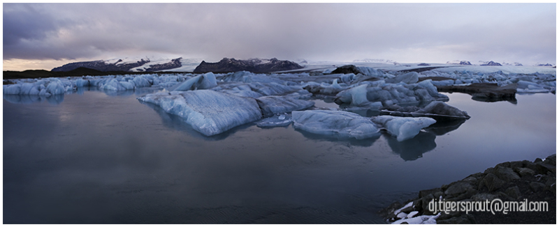 A Vast Landscape of Thick, Blue Ice (Jokulsarlon)