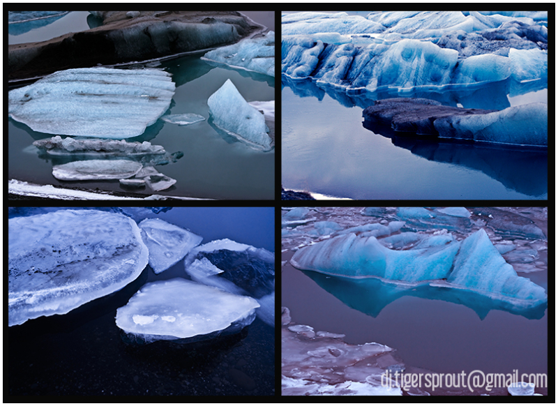 Icy Shades of Blue, Jokulsarlon Glacier Lagoon