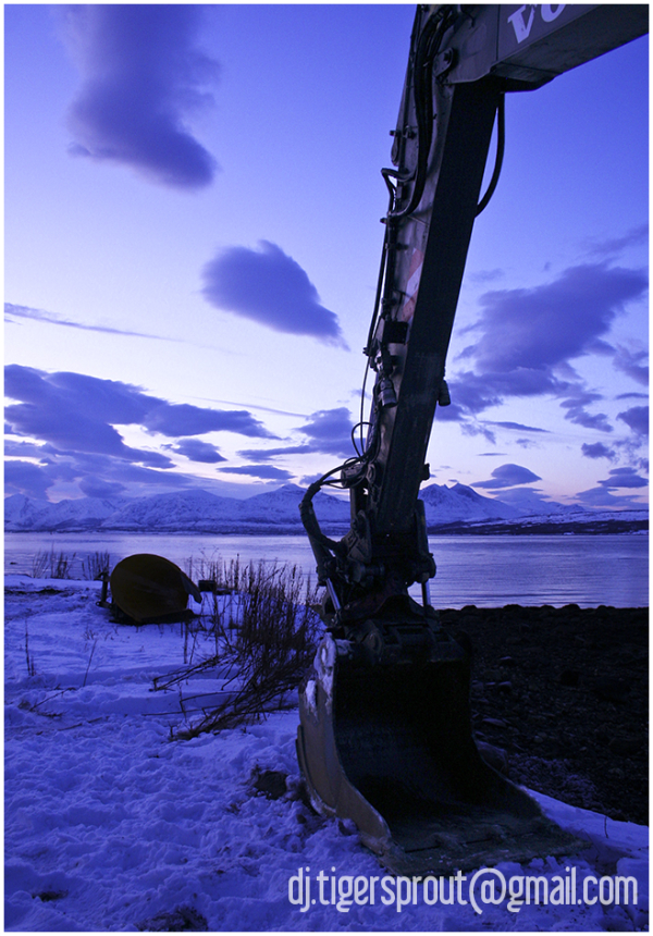 Sleeping Backhoe, Tromso (Norwegian Arctic Circle)