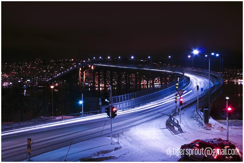 Overlooking the Tromso_Tromsdalen Bridge, Norway