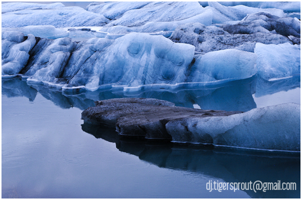 Islands of Blue Ice (Detail), Jokulsarlon, Iceland