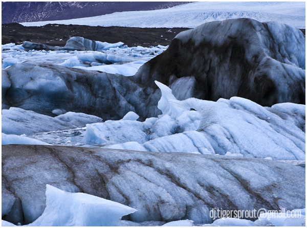 Cemetery of Dirty Ice, Jokulsarlon Glacier Lagoon