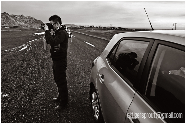 At Work, On the Road, Southern Iceland (Duotone)