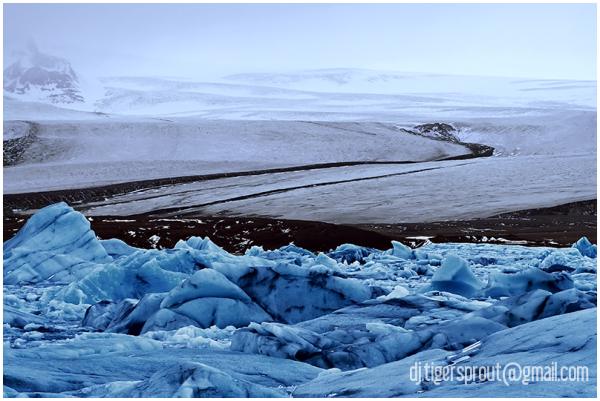 Smooth Glacier Folds, Jokulsarlon Glacier Lagoon