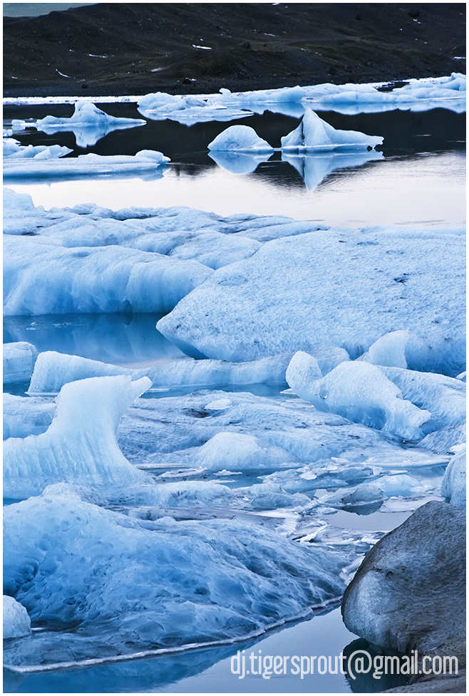 Bright Blue Pools of Ice, Jokulsarlon