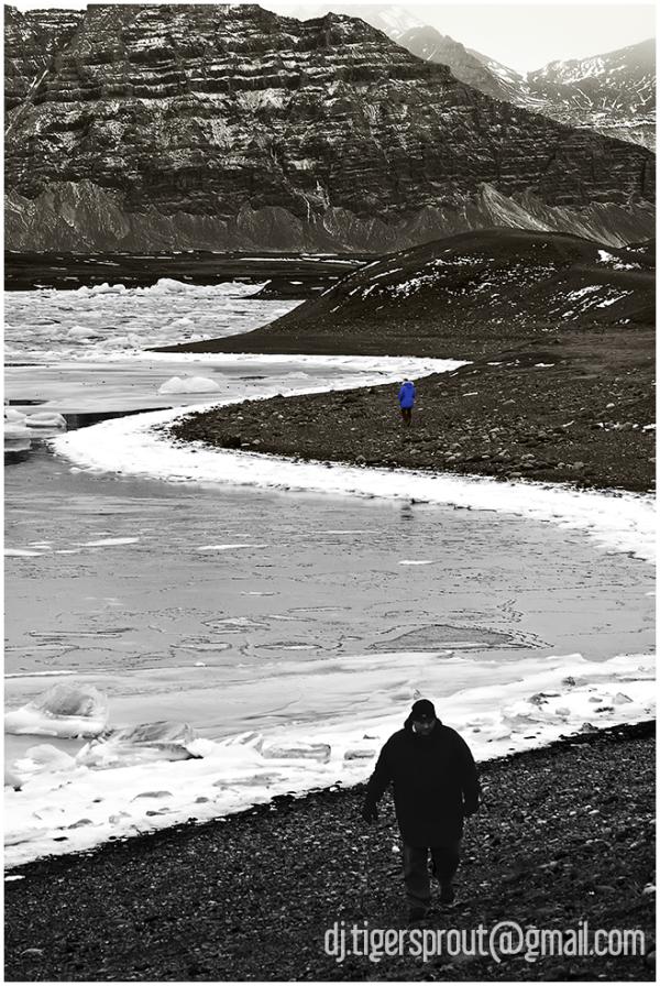 On the Perimeter of a Frozen Bay... (Jokulsarlon)
