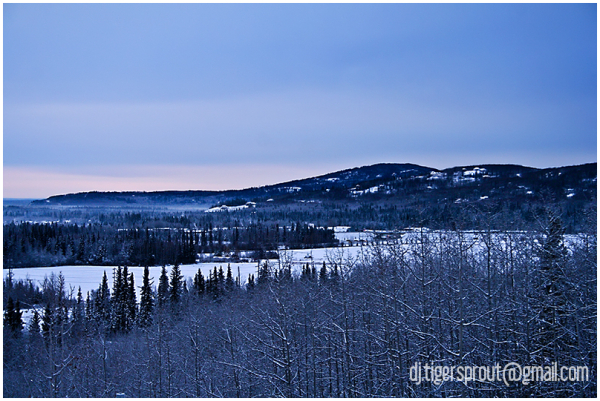 a Blue Wilderness Frontier, Fairbanks, Alaska