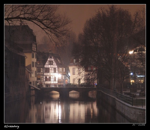 Strassburg by night Strasbourg