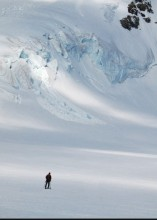 Ski touring on the Aletschgletscher