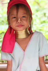 Longneck Girl in Karen tribe (Thailand)