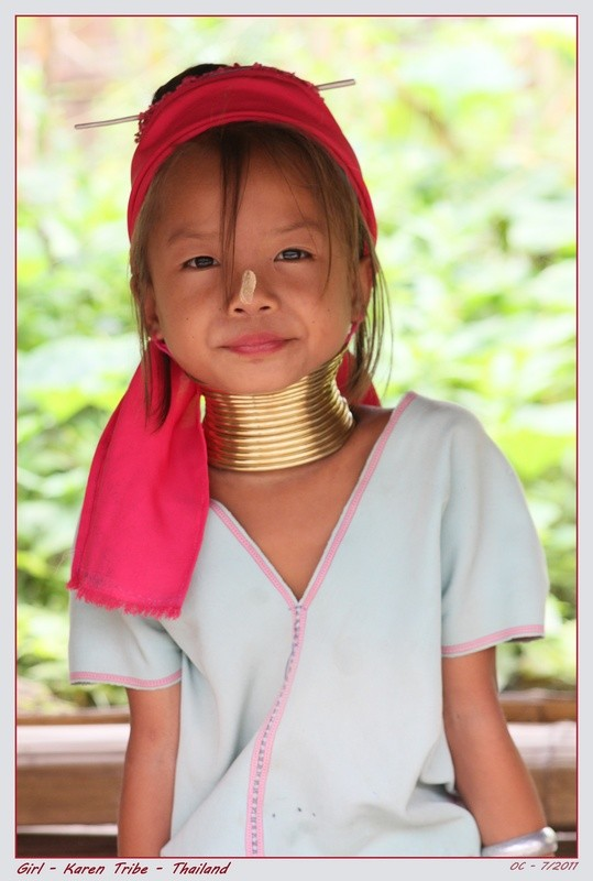 Girl in Karen tribe (Thailand) - Longneck