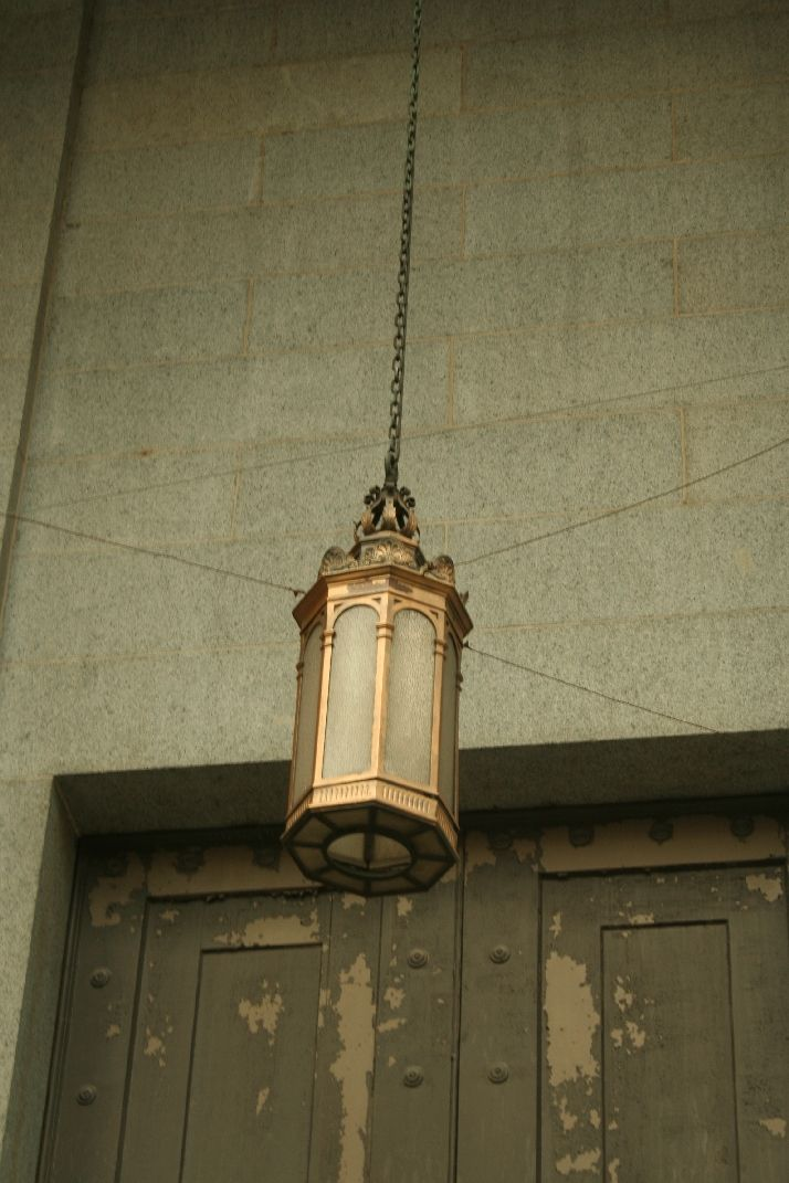 An old chandelier