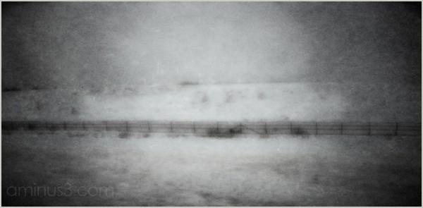 fence winterscape mountain-pass snowfence roamin