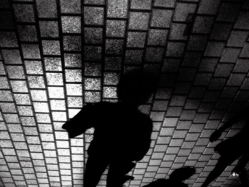 3 shadows emerging film noir style