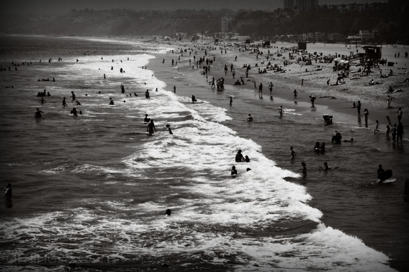 an overview of santa monica beach