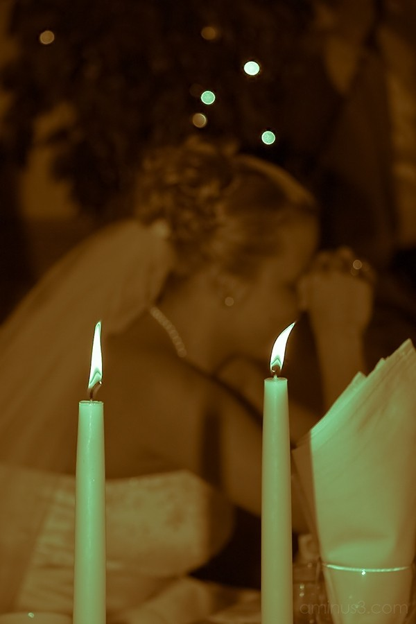 bride reflecting during wedding