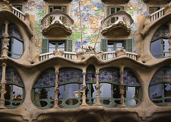 Gaud&iacute;: Casa Batll&oacute;, I. Detalle de la fachada.