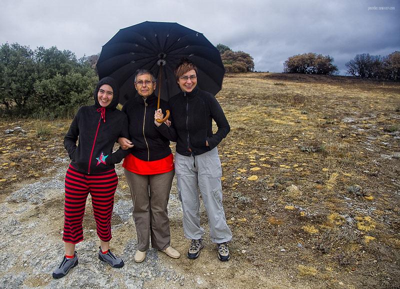 Paraguas para tres