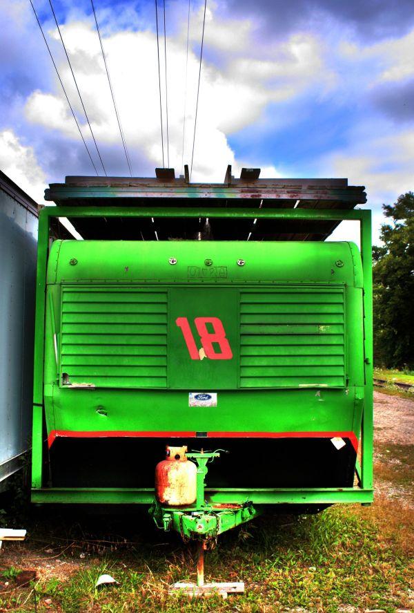 green trailer