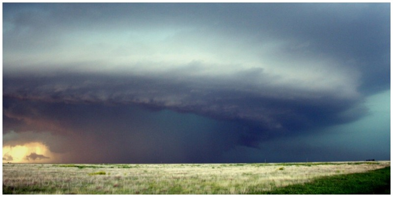 Mesocyclone with hail core