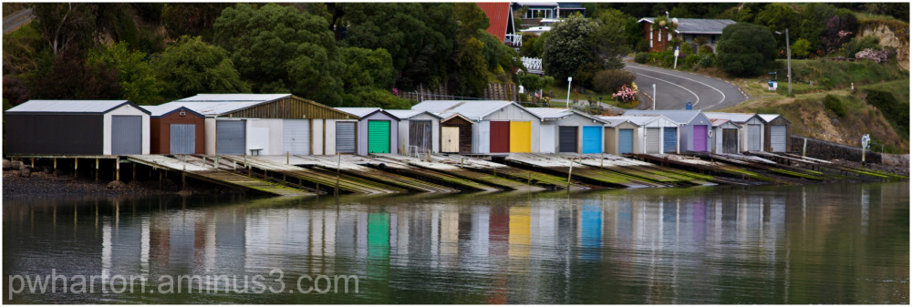 Boatsheds at Duvauchelle