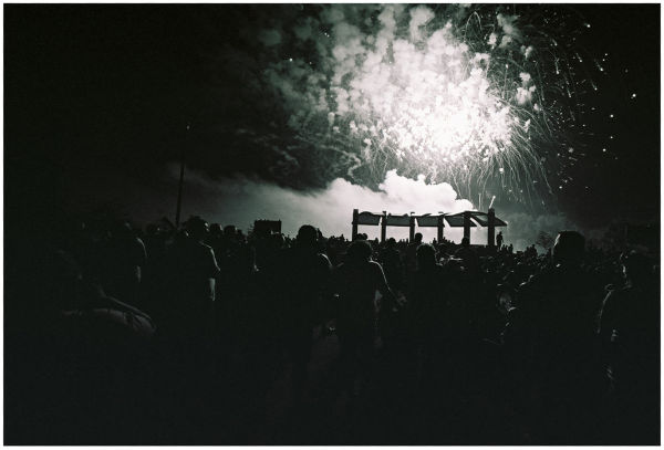 fireworks display - bessa L, b&w photo